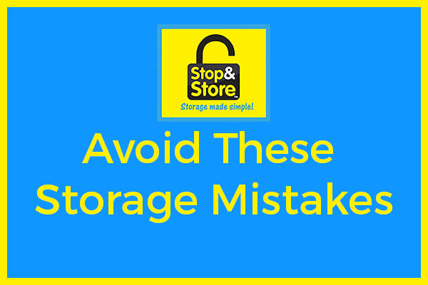 common mistakes, self storage, squamish