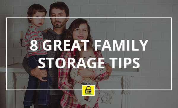 family storage, tips, home
